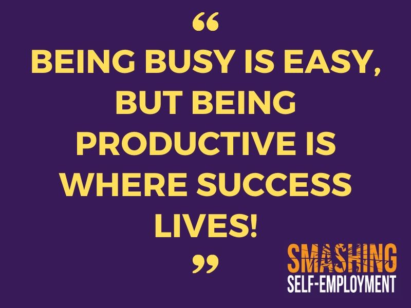 Busy vs productive - a few pointers