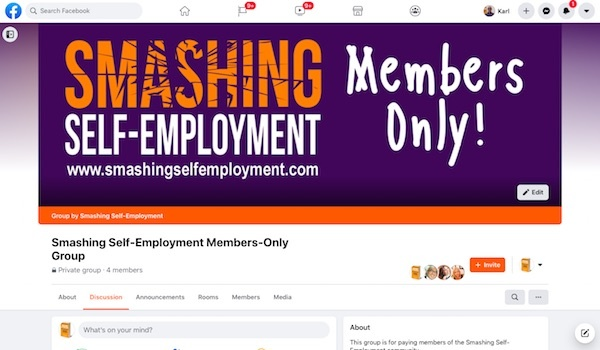 member only facebook group of Smashing self-employment business coaching in Auckland